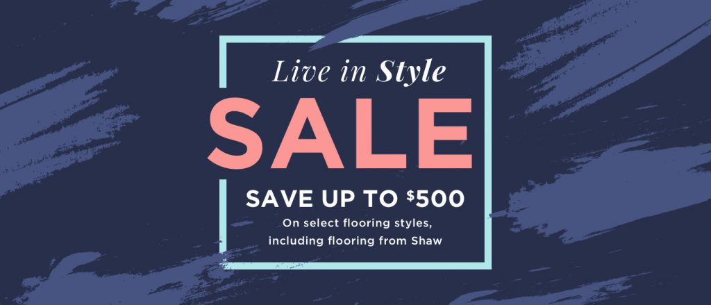 Live In style Sale | West Michigan Carpet Center