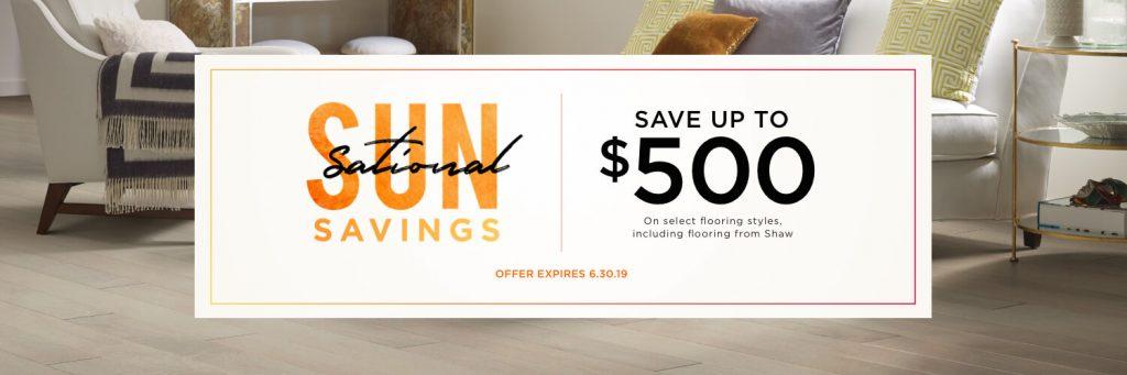 Sun Sational Savings Sale | West Michigan Carpet Center
