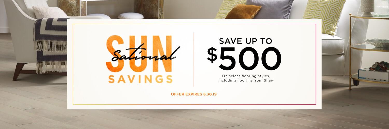 Sun Sational Savings Sale | WM Carpet
