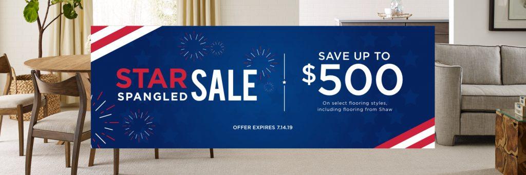 Star Spangled Banner Sale   West Michigan Carpet Center