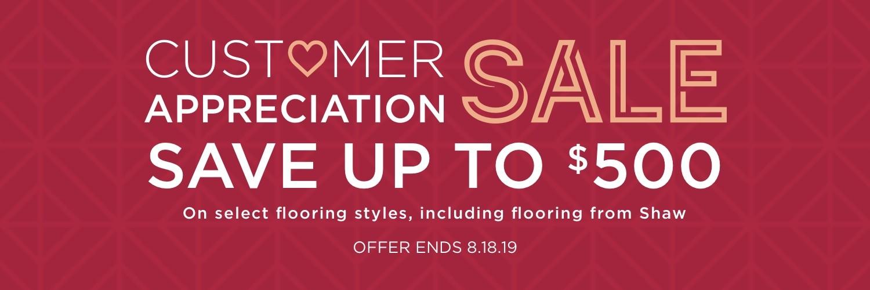 Customer Appreciation Sale | WM Carpet