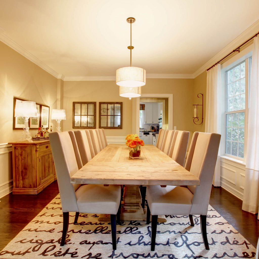 Room with dining table | West Michigan Carpet Center