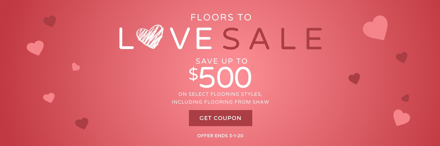 Floors to love sale banner | West Michigan Carpet Center