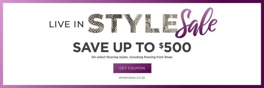 Live in style sale banner   West Michigan Carpet Center
