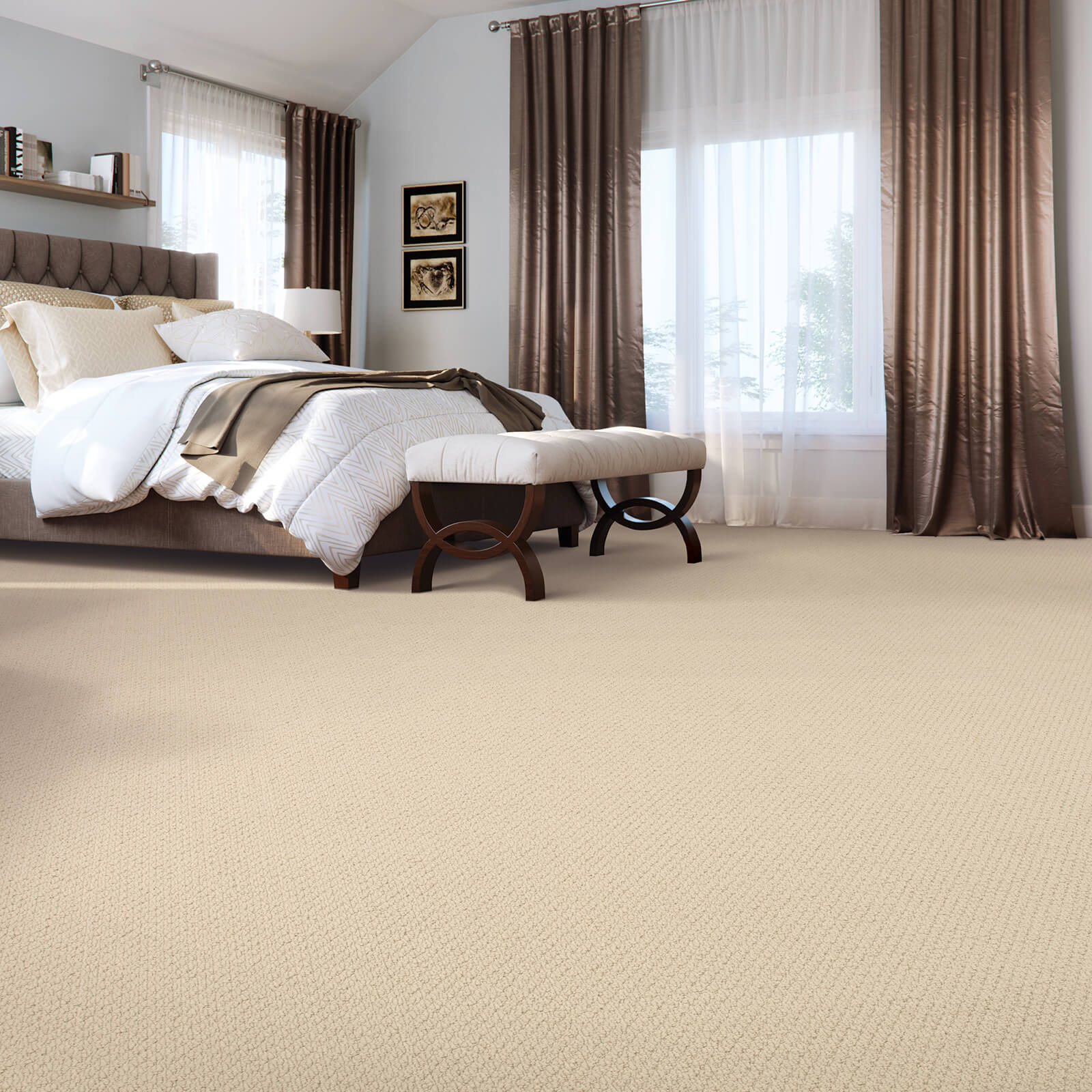 New carpet for bedroom | West Michigan Carpet Center