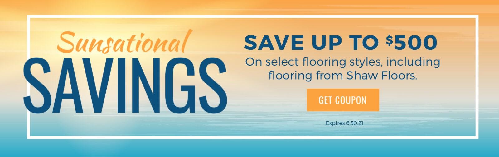 Sunsational Savings Sale   West Michigan Carpet Center